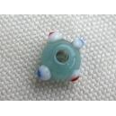 Rondelle intercalaire 6mm Bleu pacifique