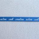 Ruban message Bleu 7mm - 1 mètre