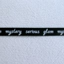Ruban message Noire 7mm - 1 mètre