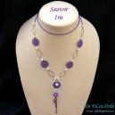 sautoir chaine violet et banc mod les bijoux fantaisie faire soi m me. Black Bedroom Furniture Sets. Home Design Ideas