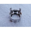 Sertissure ronde 10mm argenté