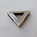 Intercalaire triangulaire 28mm argenté