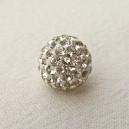 Perle Shamballa 10mm Cristale